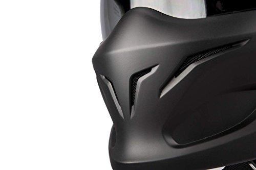 Scorpion Motorradhelm Exo Combat, Schwarz, Größe M - 4