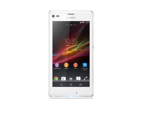 Sony Xperia L Smartphone (10,9 cm (4,3 Zoll) Touchcreen, 1GHz, Dual-Core, 1GB RAM, 8GB interner Speicher, 8 Megapixel Kamera, NFC, Android 4.1) weiß