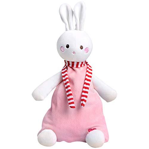 TOYANDONA Hase Sicherheitsdecke Baby Kuscheldecke Gefüllt Plüsch Kuscheln Neugeborene Decke Babyparty Geschenk