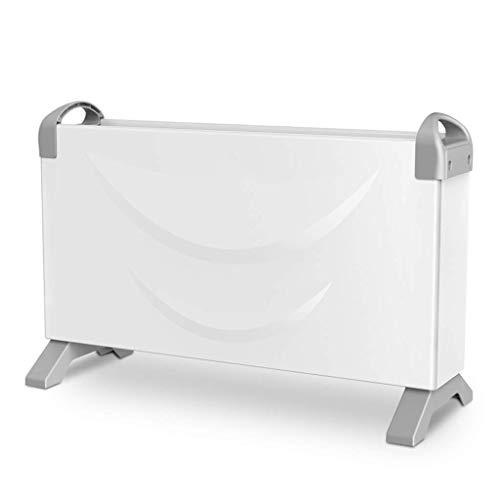 Elektrische radiator, convectieverwarming, elektrische radiator, radiator, 3 vermogen, verticale configuratie, stil, energiebesparend, 2000 W, automatisch wit (52 x 20 x