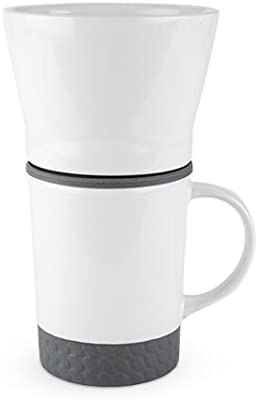 True 5457 Brew Pour Mug Coffee Serving Sets, White