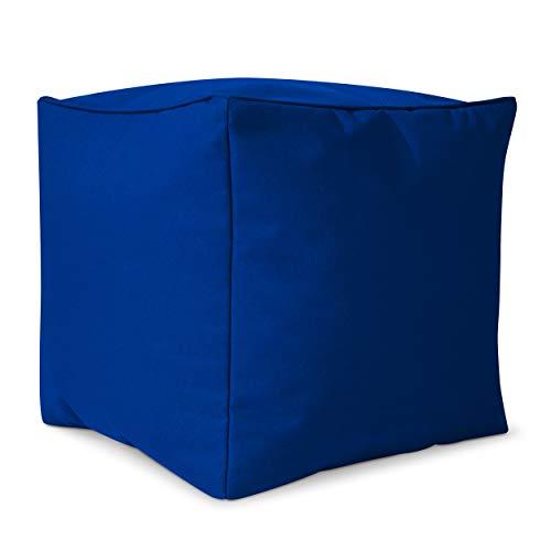 Green Bean © Cube Sitzsack Hocker 40x40x40 cm, Erweiterung & Addon für Cozy Gaming Beanbag, Sitzhocker, Fußhocker für Sitzsäcke, Fußkissen & Stütze, Fußablage für Kinder und Erwachsene, Blau