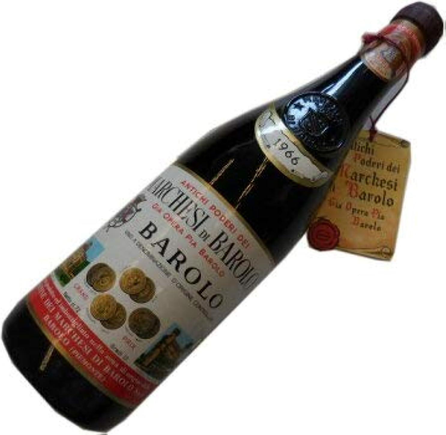 バンカーペナルティ一流昭和41年の誕生年ワイン 1966年 バローロ 赤 マルケージ?ディ?バローロ 箱入りギフトラッピング