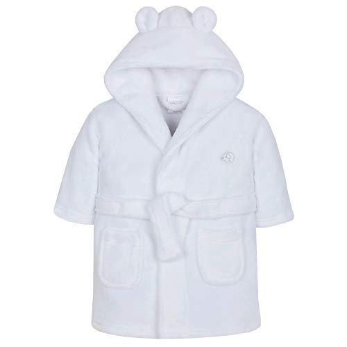Bata para bebé niña de Lora Dora, con capucha, de polar, talla de 6-24meses Blanco White - Elephant 18-24 Meses