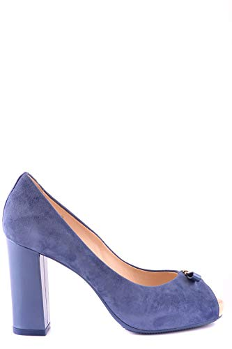 Hogan Damen Mcbi20464 Blau Wildleder Pumps