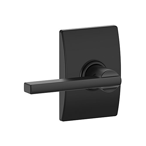 Schlage F10 LAT 622 CEN Century Collection Latitude Passage Lock Lever, Matte Black