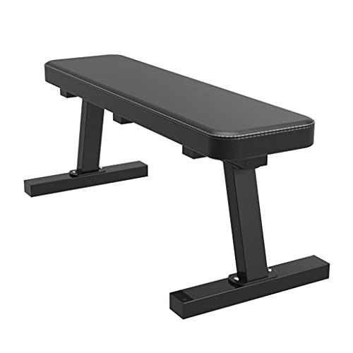 Fitnessgeräte Faltbare Flachbank In Gym-Qualität, Geeignet Für Mehrzweck-Gewichtstraining Und Bauchtraining, Langhantel-Flachhantel (Color : Black, Size : 100 * 26cm)