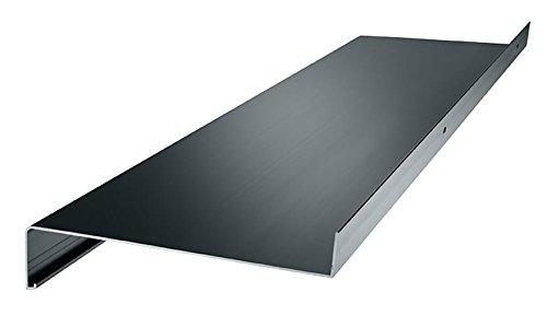 empasa Aluminium Fensterbank Fensterbrett für außen Ausladung 260 mm in verschiedenen Längen weiß, silber, dunkelbronze, anthrazit