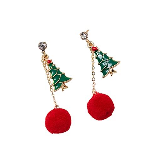 SM SunniMix Accessori per Orecchini Campane Piercing Ciondola Gioielli per San Donne Ragazze - Albero di Natale