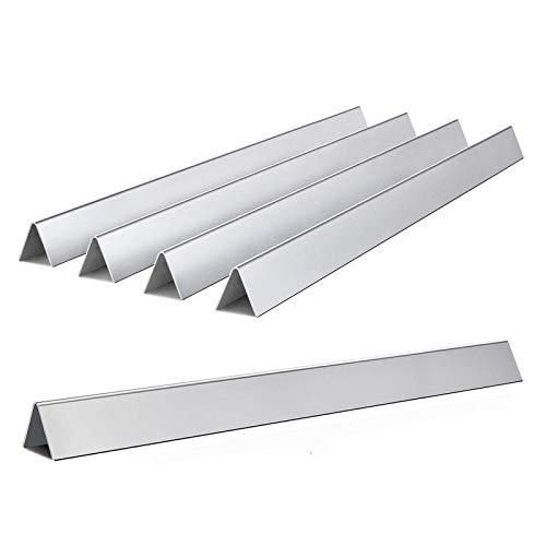 24.5-Inch Durable Flavorizer Bars for Weber Genesis 300 Series (Side- Control), Genesis E-310 E-330 Grill Parts, Stainless Steel, 5-Pack