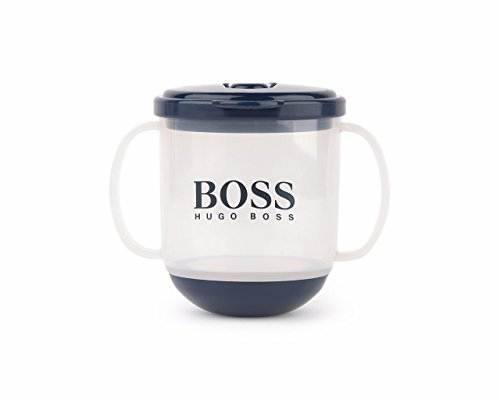Hugo Boss Kids Navy Sippy Cup with Logo Print One Size