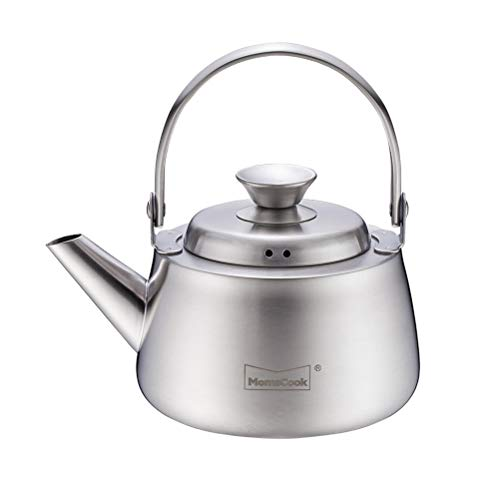 Tea Kettle Stovetop Teapot 0.5 Liter Stainless Steel Hot Water Kettle Whistling -Mirror Finish,Folding Handle,Fast to Boil, Whistl