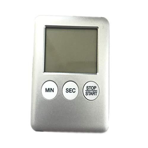 Eenvoudig te dragen mode eenvoudigweg ultradunne digitale LCD-scherm keuken timer vierkant, het horloge en de magneet kookt.