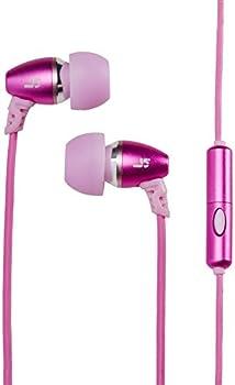JLab Audio JBuds J5M Metal Earbuds Style Headphones w/ Mic GUARANTEED FOR LIFE - Pink Lemonade