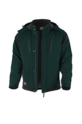 Winter-Softshelljacke Pro warme Arbeitsjacke Gala-Bau grün-schwarz Gr.XS-5XL (L)