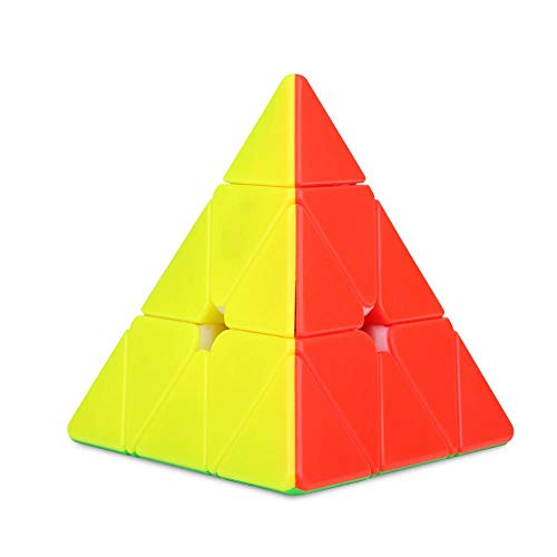 Triangle Pyramid Magic Cube Cube Pyraminx Speed Magic Cube Velocidad clásica 3D Puzzle Triangle Brainteasers Cube(Negro)