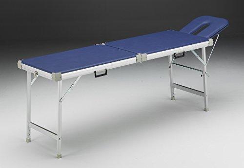 Alu-Kofferliege 56 x 210 cm inkl. Kopfteil m i t Nasenschlitz Farbe royalblau