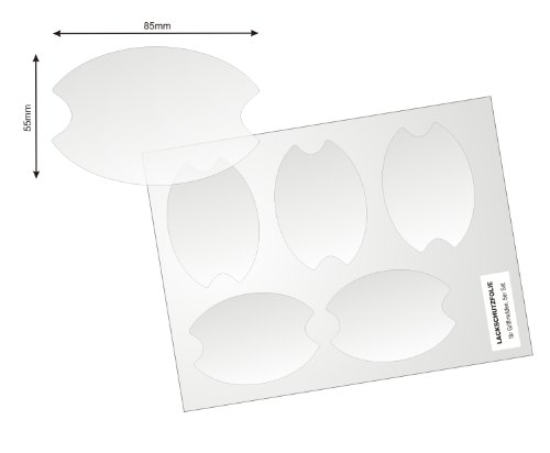 Universelle Lackschutzfolie für Griffschalen/Griffmulden - 8er Set mit acht Schutzfolien, 150µm transparenter, selbtklebender Lackschutz