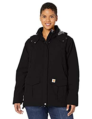 Carhartt Women's Shoreline Jacket (Regular and Plus Sizes), Black, X-Large