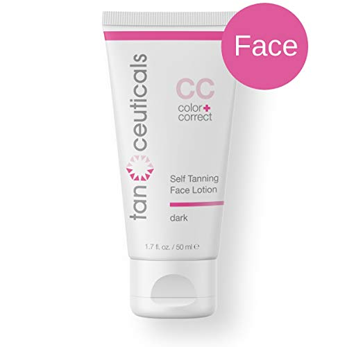 Tanceuticals Facial Self Tanner for Face Gives Natural, Long-Lasting Sunless Tan - Fresh Coconut Scent