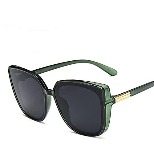 YWSZY Gafas de Sol Gafas de Sol de Gran tamaño Señoras Retro Square Sunglasses Sunglasses de Sol (Lenses Color : Green)