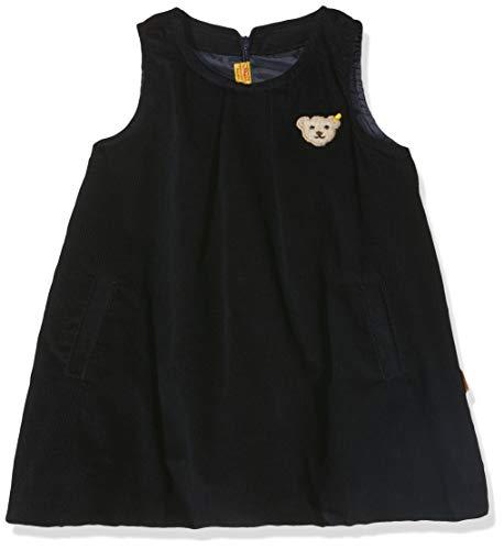 Steiff Baby-Mädchen O. Arm Kord Kleid, Blau (Black Iris 3032), 62 (Herstellergröße: 062)