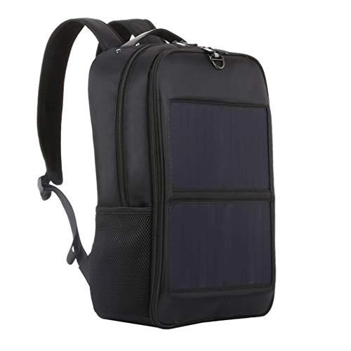 MERIGLARE Mochila con Cargador de Panel Solar para Hombres 14W Puerto de Carga Bolsa de Senderismo Antirrobo