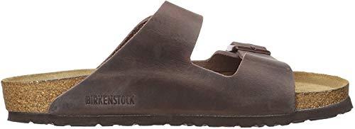 Birkenstock  –Arizona, Unisex-Sandalen mit 2 Riemen, Kork-Fußbett, - Habana Oiled Leather - Größe: 39 EU