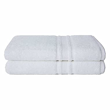 Charisma 100% Hygro Cotton 2-piece Bath Sheet Set - White
