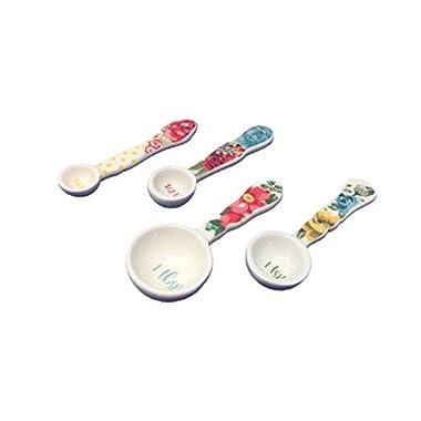 Pioneer Woman Vintage Floral Ceramic Measuring Spoons