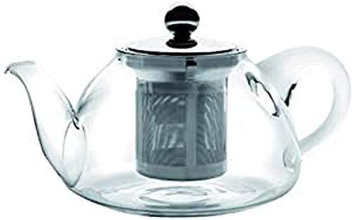 IBILI 621708 Kristall – Tetera Stove de Cristal Transparente con Filtro. 18 x 18 x 10 cm. 2 Piezas. 800 ml