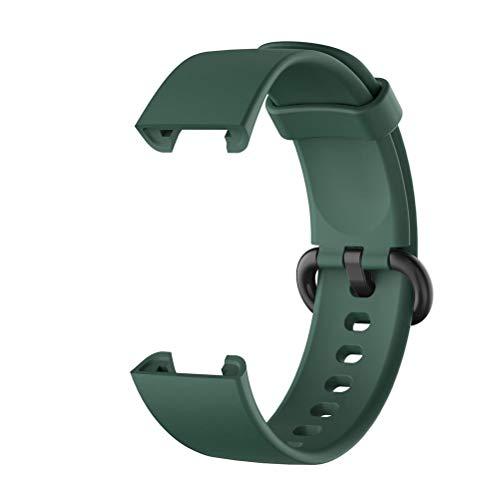 Correas de Reloj, Correa de Silicona de Repuesto, Correa de Reloj de Silicona de Repuesto, Compatible para el Reloj Inteligente Xiaomi Mi Watch Lite/Redmi Watch Lite