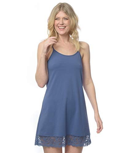 Women's Camilla Night Sweat Relief Nightgown Sleepwear Moisture Control Sleepshirt (Marlin, Small)
