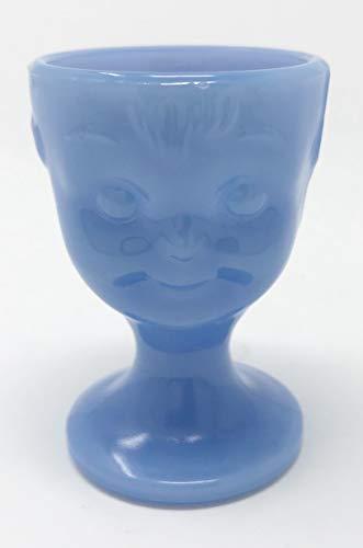 Guernsey Delphite Blue Hummel Child Face Egg Cup (Set of 2)
