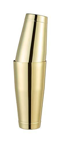 HJHQQ-CZYHG Boston Shaker Cocktail, Conjunto Color Oro Último Timbale 850ml + 530ml de Acero Inoxidable (Color : Or)