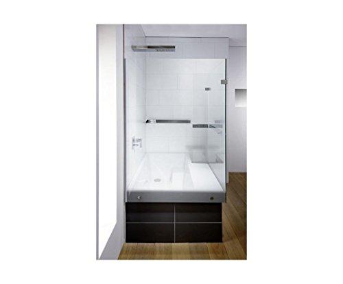 Repabad Stairway Dusch Badewanne 170 Ecke mit Glaswand Wannenträger Kombiwanne mit Rotaplex Trio mit Wassereinlauf rechts ohne RepaGrip ohne Stufe mit Wandgriff