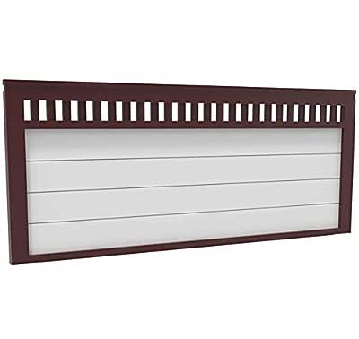materiales: madera maciza de pino insigni medidas: 190 x 64 x 3 (ancho,alto,grueso) acabado: Mixto: Nogal-Tablero Blanco cabecero de una pieza con anclajes para la pared