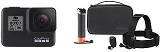GoPro hero7 - Action Camera 4K con Hypersmooth, Stabilizzazione video e Live streaming - Nero + GoPro AKTES-001 Adventure Kit, Black