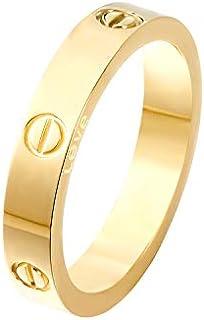 Z.RACLE 4mm Love Rings Women Screw Design Best Gifts Love Gold