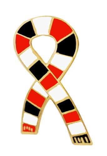 1000 bandiere Kidderminster Harriers sciarpa da calcio stile retrò, spilla dorata