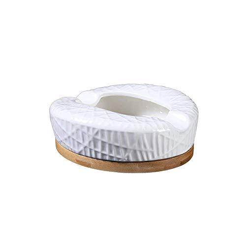 SHUMEISHOUT Cenicero de cerámica creativo moderno minimalista muebles del hogar personalidad cigarrillos bandeja de ceniza hogar oficina bar decorativo accesorios para fumar salón adornos