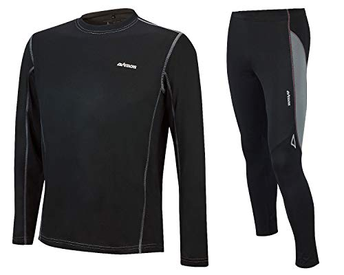 Airtracks FUNKTIONS-LAUFSET - Tight-LANG PRO AIR + T-Shirt Langarm PRO AIR - schwarz - L