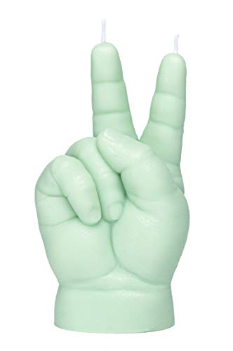 Baby Hand Gesture Candle VICTORY - verde