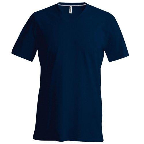 T-shirt à manches courtes et col en V coupe cintrée Kariban pour homme (4XL) (Bleu ciel)