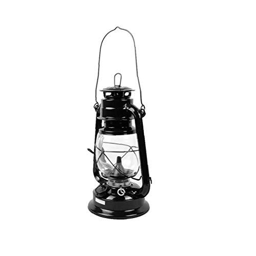 El queroseno retro Vintage lámpara de keroseno linterna lámpara de aceite portátil acampan al aire libre de las luces de la función multi portátiles Luces al aire libre de iluminación de la lámpara