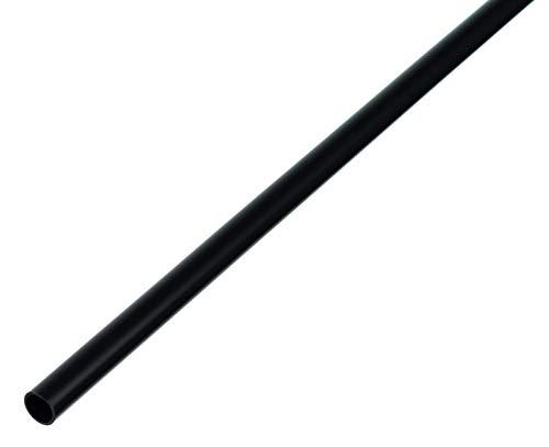 GAH-Alberts 484989 Rundrohr   Kunststoff, schwarz   1000 x 10 x 1 mm