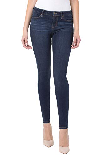 Liverpool Women's Abby Skinny Jeans in 4-Way Stretch Contour, Corvus Dark, 2