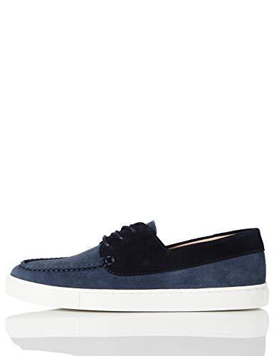 find. Cupsole Boat Shoe Scarpe da Barca, Blu (Blue (Suede), 47 EU
