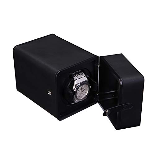 LDDLDG Caja giratoria para Relojes Automático Rotor de enrollador automático de un Solo Reloj con Motorm silencioso, 3 Modos de rotación, Adecuado for muñecas de Hombres y Mujeres (Color : Black)