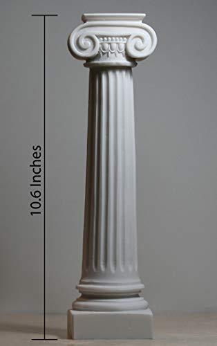 Estatua de pedestal de pilar iónico griego, escultura de alabastro, 28 cm